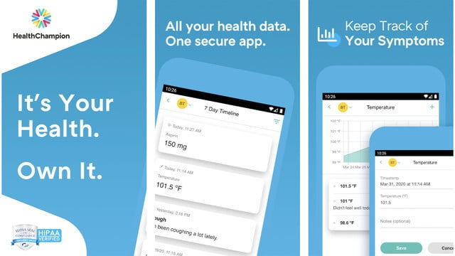 HealthChampion, the Popular Health App, Gets a Free Covid-19 Symptom Tracker