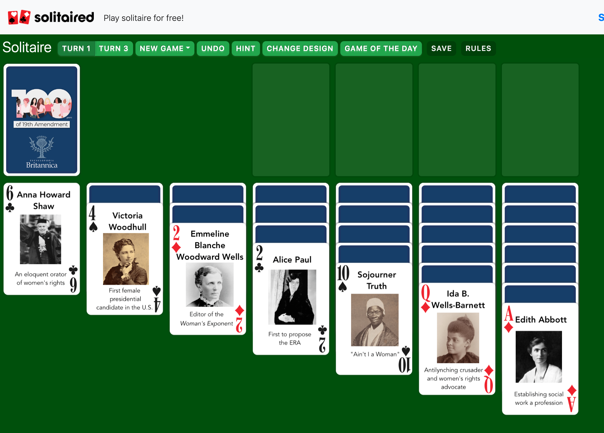 photo of Solitaired Is an Educational Solitaire Game that Celebrates Notable Figures from History image