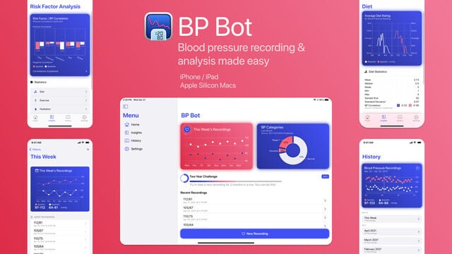 Track Your Blood Pressure and Identify Trends With BP Bot