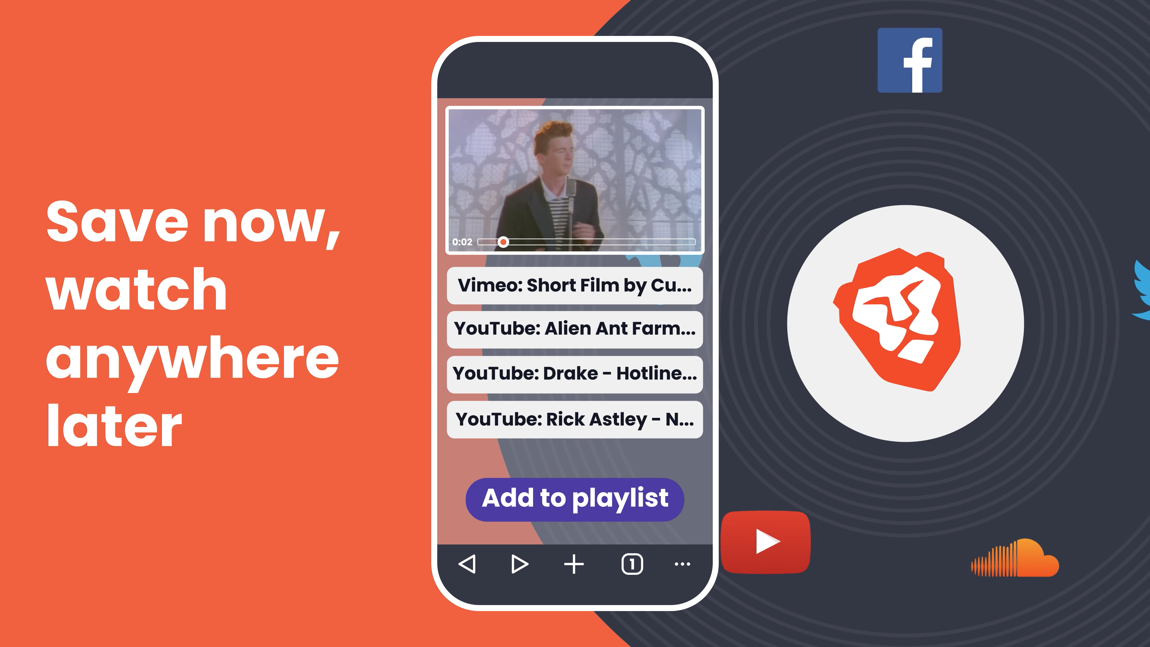 photo of Third-Party Browser Brave Gains a New Playlist Feature image