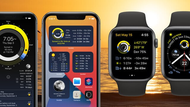 Sun and Moon Tracker Sundial Adds Two Home Screen Widgets, New Apple Watch Complications