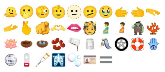 All of the of the new emoji.