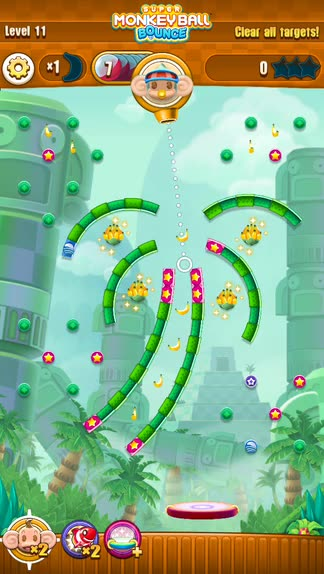 You'll go bananas for pachinko in Super Monkey Ball Bounce for iOS