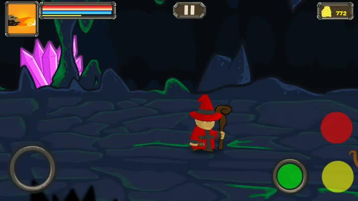 Save the kingdom from armies of monsters as the BattleMage in this side-scrolling RPG adventure