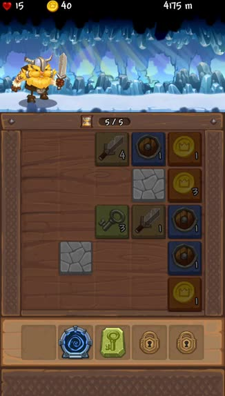 Lost Viking is a clever combination of Threes!, RPG, and endless runner