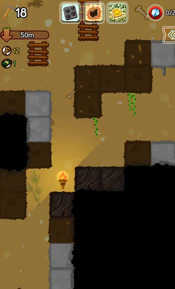 Think before you dig in Pocket Mine 2, a strategic mining adventure game