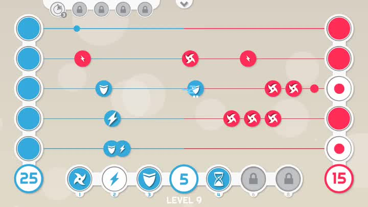 Use dots to overwhelm your opponent in Battledots, a fast-paced strategy game