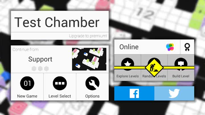 You'll have to think twice before moving in Test Chamber, a stylish and challenging puzzle game