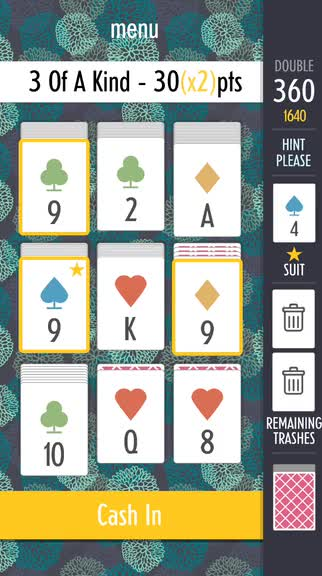 Play the right hands to rack up points in Sage Solitaire