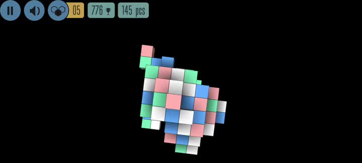 Spin and tap to make matches in a puzzling Sea of Squares