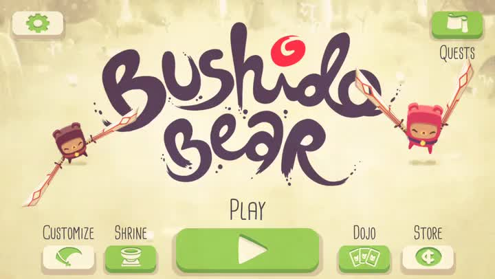 Dash and Slice Through Foes in Bushido Bear from Spry Fox