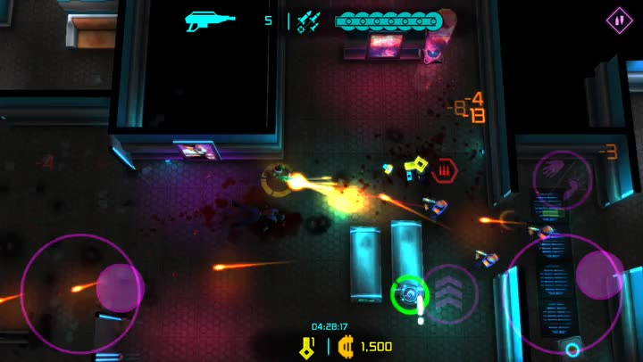 Take Down the Overseer in Neon Chrome, a Dystopian Shooter